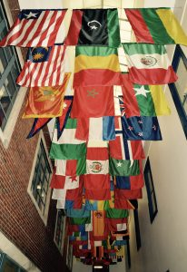 Various flags represented in URI's Memorial Union. Jon Brock | Cigar