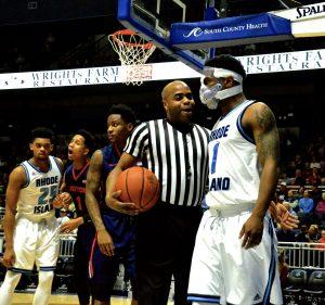 Jon Brock   Jarvis Garrett wearing unique protective mask in February game versus Dayton.